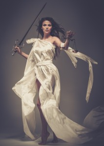 Femida, Goddess of Justice, with scales and sword - © Nejron Photo - Fotolia.com
