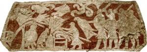 Aquila di Sangue rappresentata nella sezione della Stele di Stora Hammar, in Gotland, Svezia
