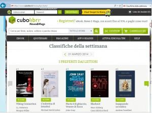 Classifica dei libri preferiti dai lettori di Cubolibri.it nella settimana del 31 marzo