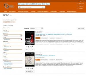 OPAC Consorzio Sistema Bibliotecario Nord Ovest